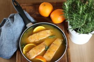 Pomarančovo - rozmarínový losos