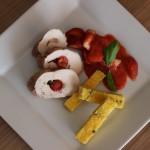 Jahodové kuracie prsia s polentovými hranolčekmi