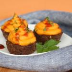 Hovädzie muffiny s penou so sladkých zemiakov