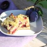 Slivkový koláč s posýpkou