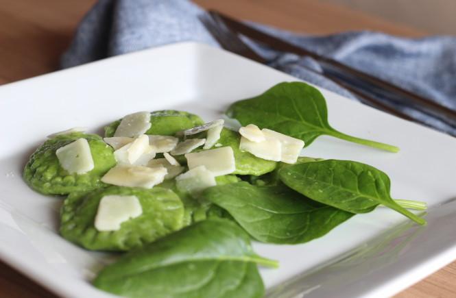 Špenátové ravioli s ricottou