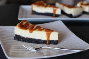 Brownie Cheesecake so slaným karamelom